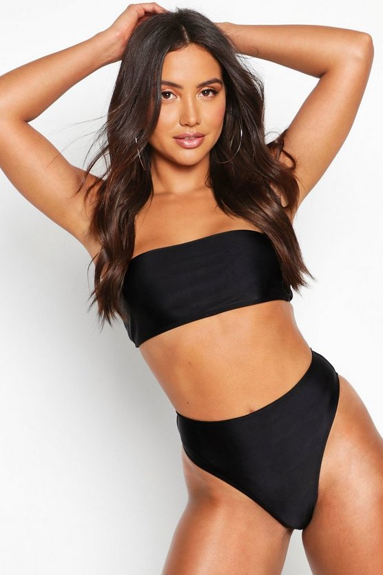 Black Mix & Match Bandeau Bikini Top