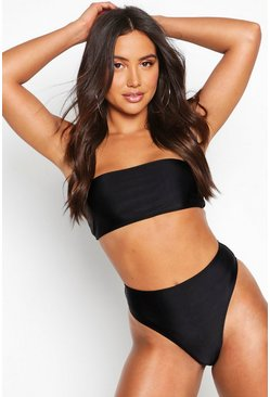 Womens Black Mix & Match Bandeau Bikini Top