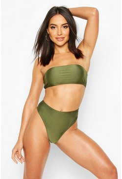 Khaki Mix & Match Bandeau Bikini Top