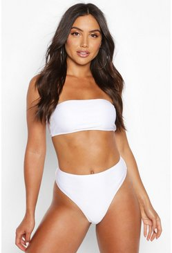 White Mix & Match Bandeau Bikini Top