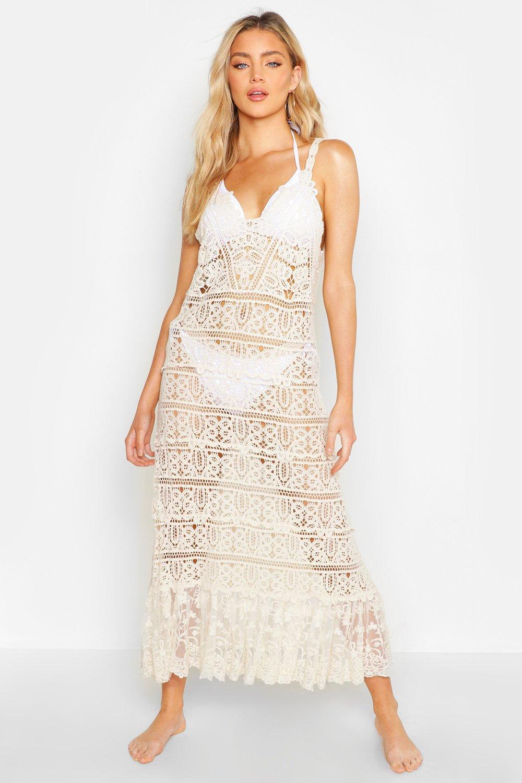 Crochet Maxi Beach Dress   boohoo Australia