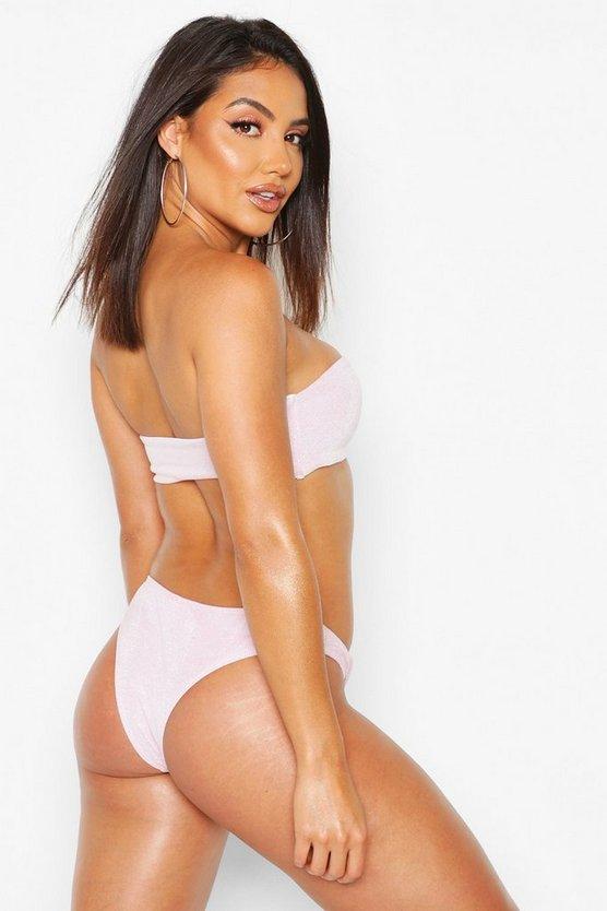 Shimmer Metallic Bandeau Bikini
