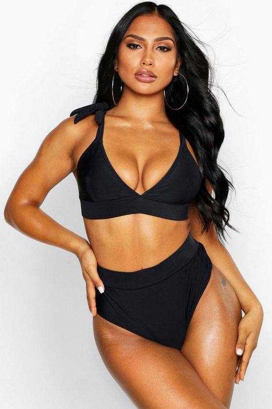 Cut Out Triangle Bikini by Boohoo