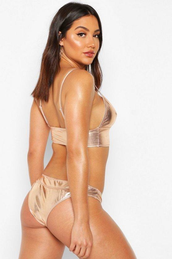 Metallic Plunge Bikini