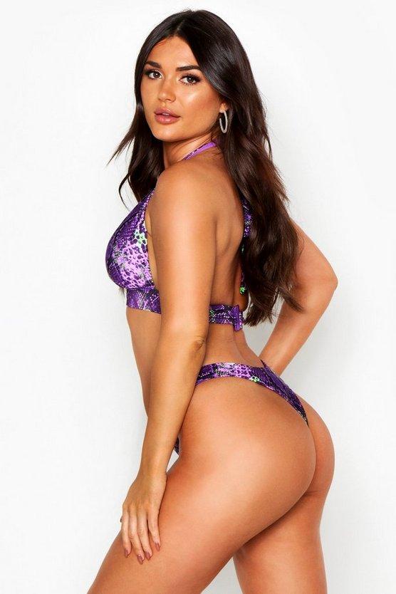 Mix & Match Snake Fuller Bust Bikini Top