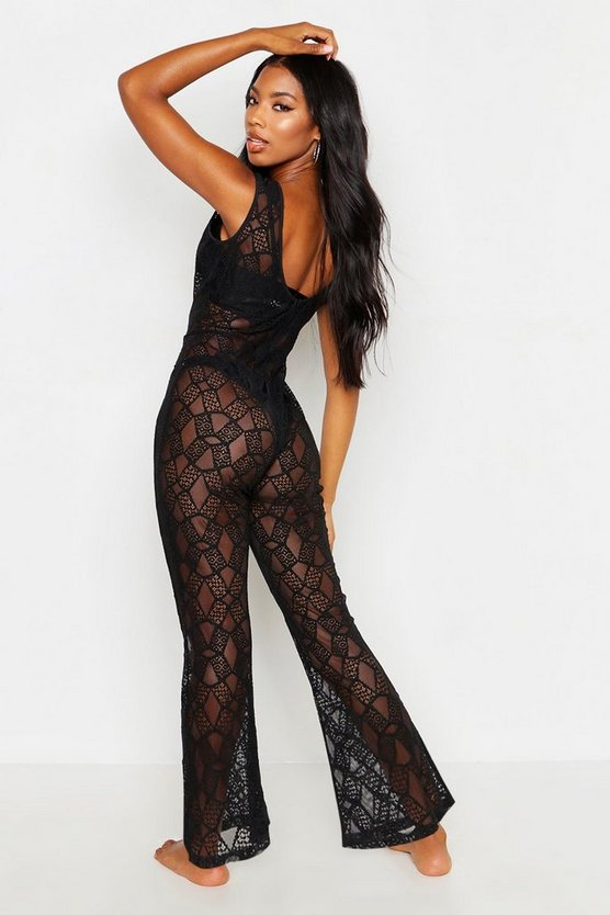 Lace Beach Jumpsuit
