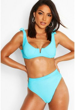 Dam Turquoise Mix & Match Underwired Crinkle Top