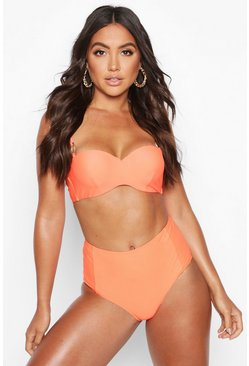 Neon-orange Mix & Match Neon High Waist Brief