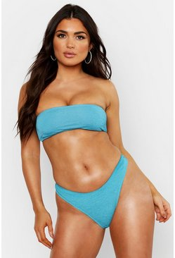 Womens Turquoise Mix & Match Crinkle Bandeau Top
