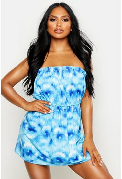 Tie Dye Jersey Beach Dress, Blue, FEMMES