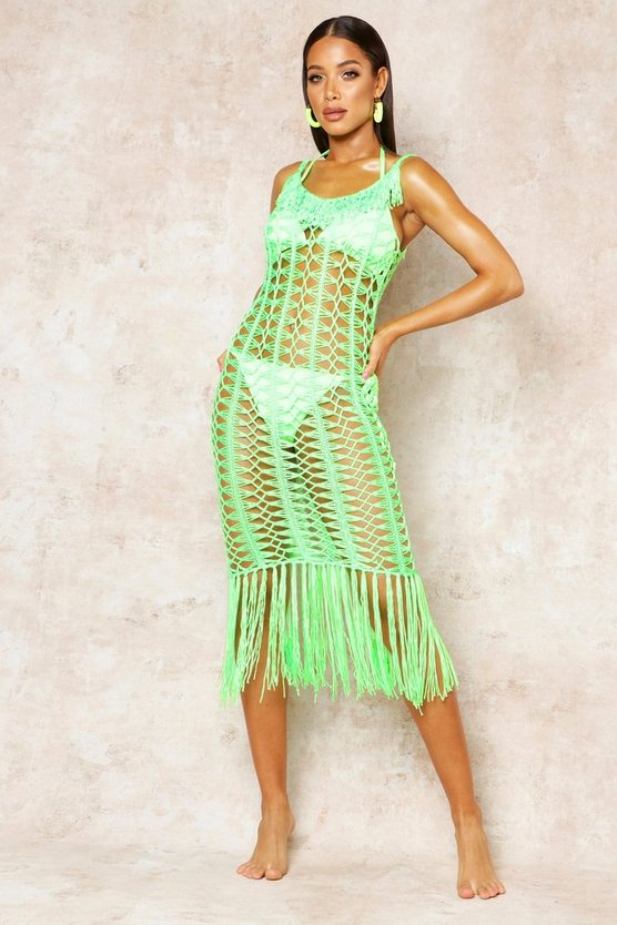 Crochet Fringed Beach Dress