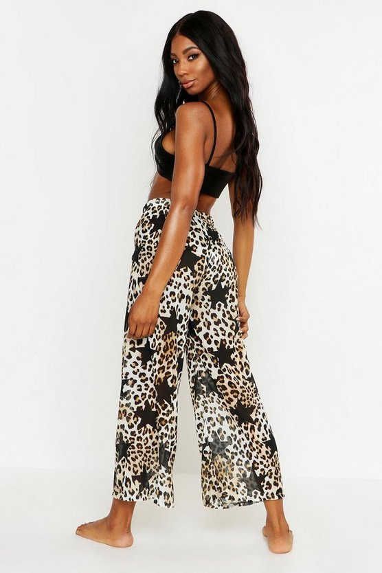 Leopard Star Beach Culottes
