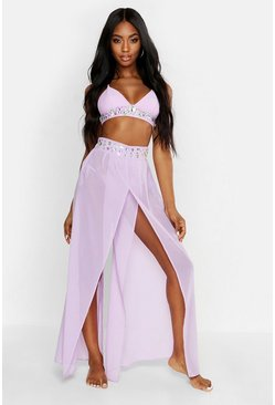 Dam Lilac Premium Jewelled Beach Trousers