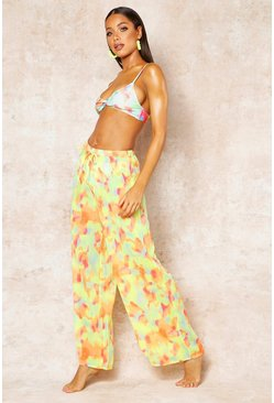 Womens Multi Tie Dye Beach Trousers