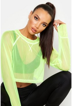Lime Fit Neon Mesh Gym Top
