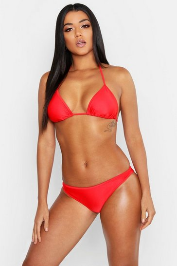 Womens Red Mix & Match Fixed Brief
