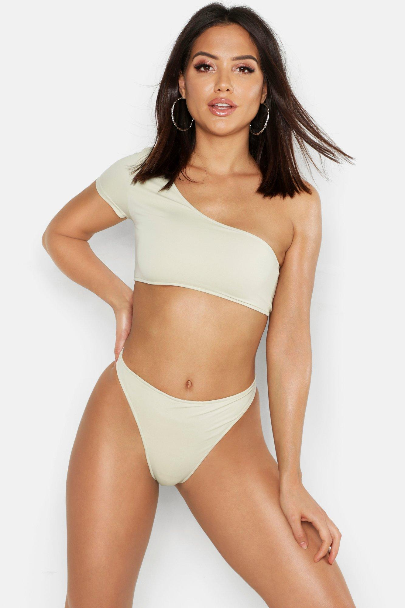 One Shoulder High Wasited Bikini