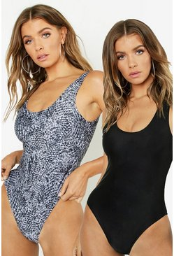 Black 2 Pack Swimsuit