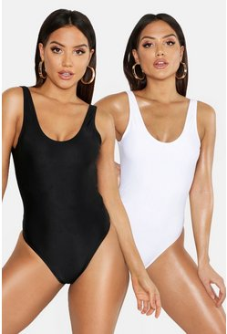 Womens Black 2 Pack Swimsuit