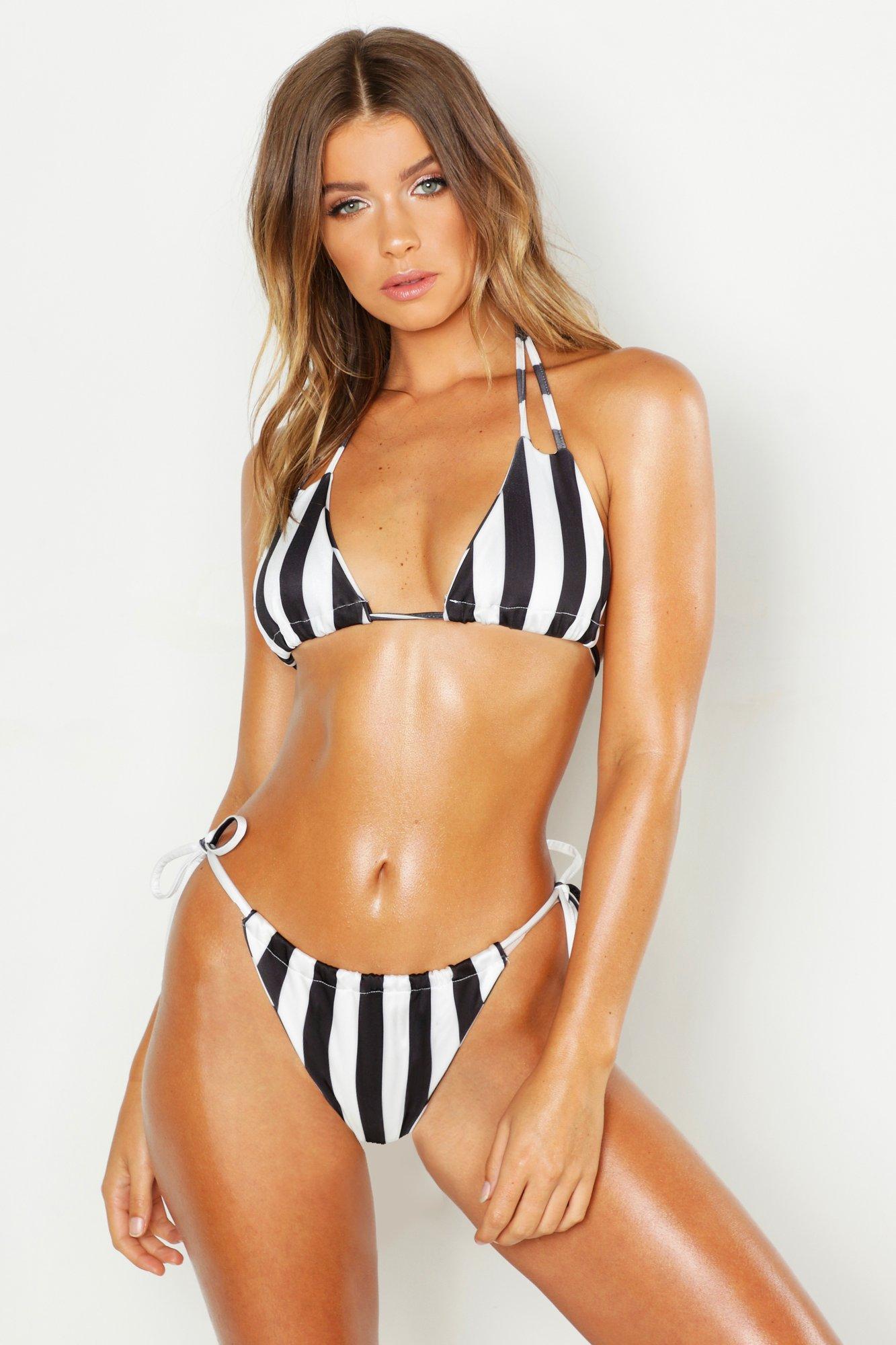 Mono Stripe Adjustbale Bikini