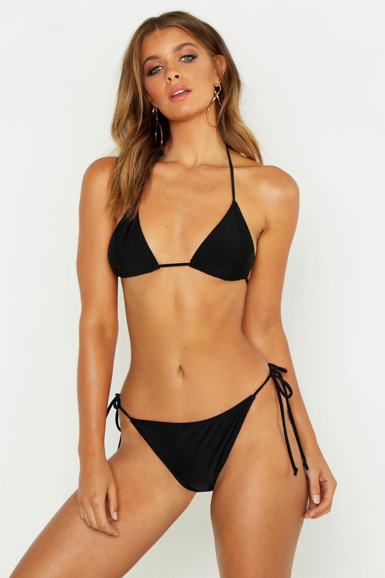 Minimal Tan Line Triangle Bikini