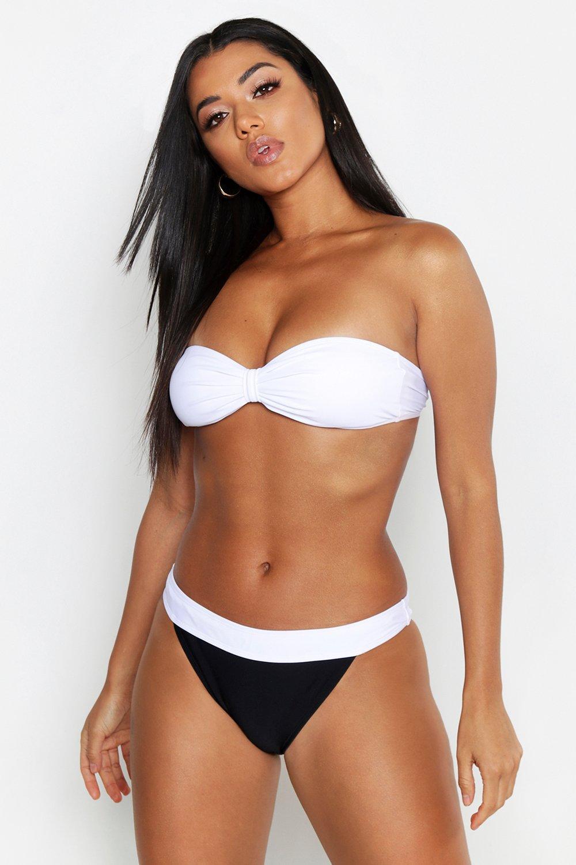 Monochrome Block Bandeau Bikini