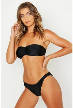 Womens Black Mix & Match Fixed Brief