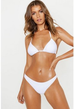Womens White Mix & Match Fixed Brief