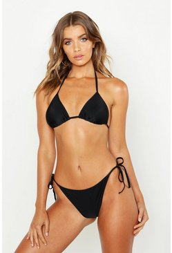 Triangle Bikini Set, Black, Donna