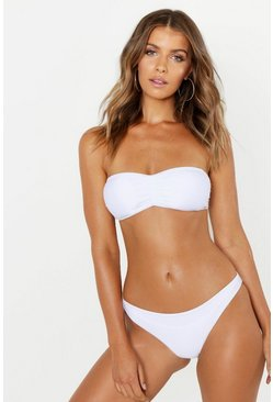 Mix & Match Bandeau Top, White, MUJER