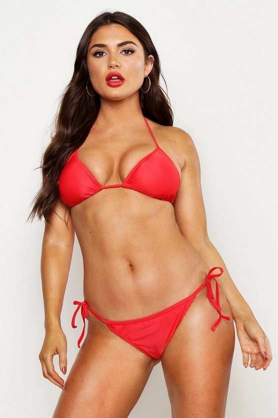 Red Triangle Bikini Set