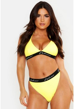 Womens Yellow Mix & Match Woman High Waisted Brief