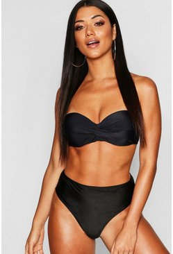 Womens Black Mix & Match Push Up Balconette Top