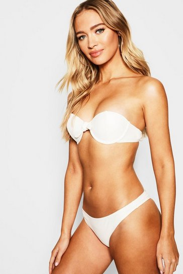 Womens Cream Mix & Match Underwired Moulded Push Up Top