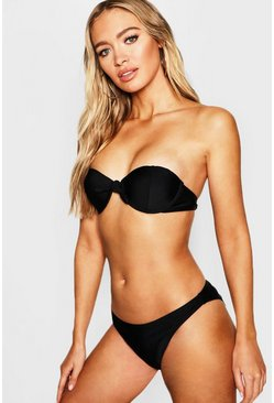 Womens Black Mix & Match Underwired Moulded Push Up Top