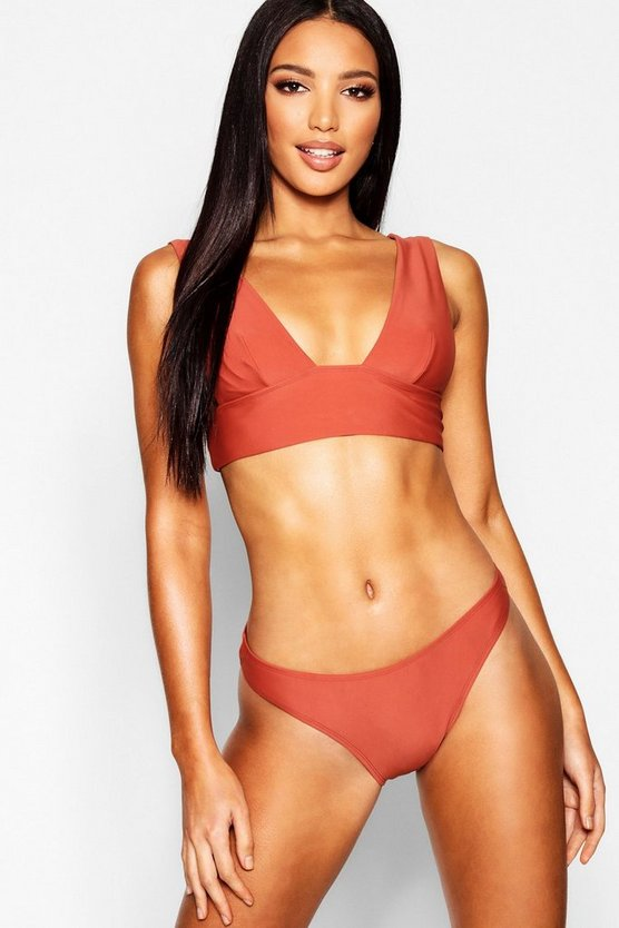 Womens Rust Mix & Match High Leg Brief