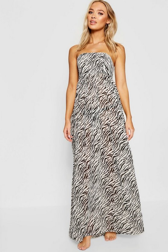 Zebra Maxi Beach Dress