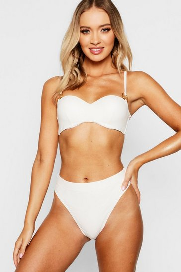 Womens Cream Mix & Match Underwired Moulded Bandeau