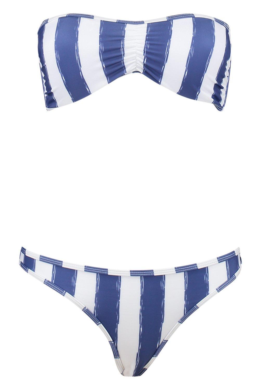 Biquini rayas a azul rayas rayas a bandeau Biquini bandeau Biquini azul a bandeau Biquini azul bandeau xRCY15qw