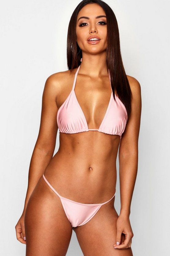 Womens Pale pink Micro String Bikini Brief