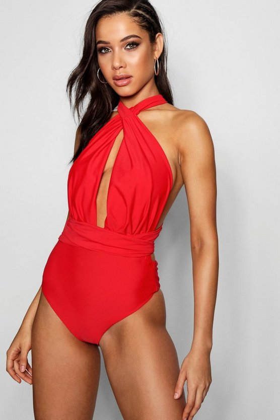 Red Multiway Swimsuit