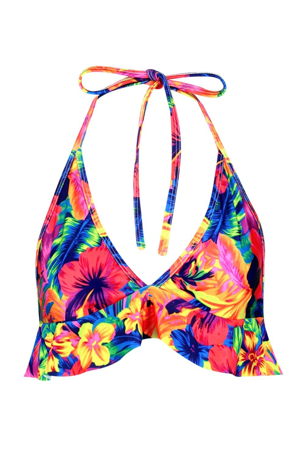 Bikini Top blue Ruffle amp; Mix Aruba Match Tropical COTpnwq