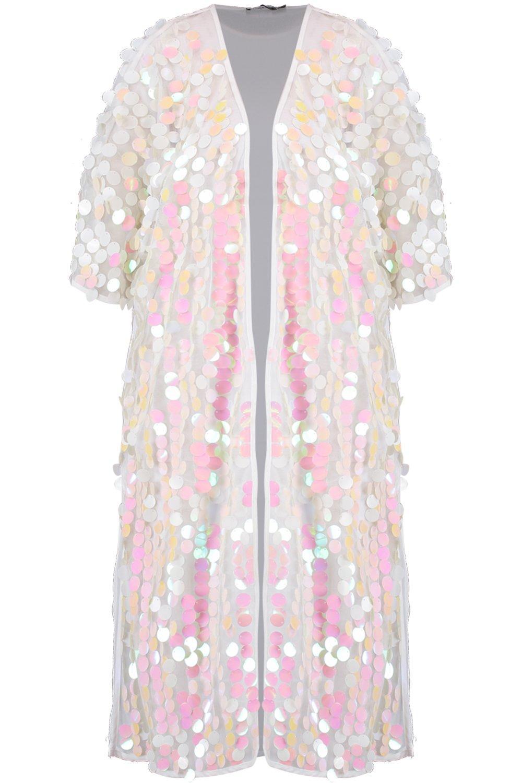 paillettes da Kimono a maxi rete spiaggia con awpqCn