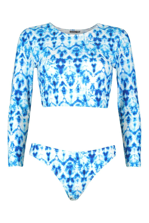 blue Up Dye Tie Rashgaurd Canary Set Lace qwxFABW8O