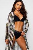 ce1d65b802 ... Womens Black Chain Mono Stripe Maxi Beach Kimono alternative image