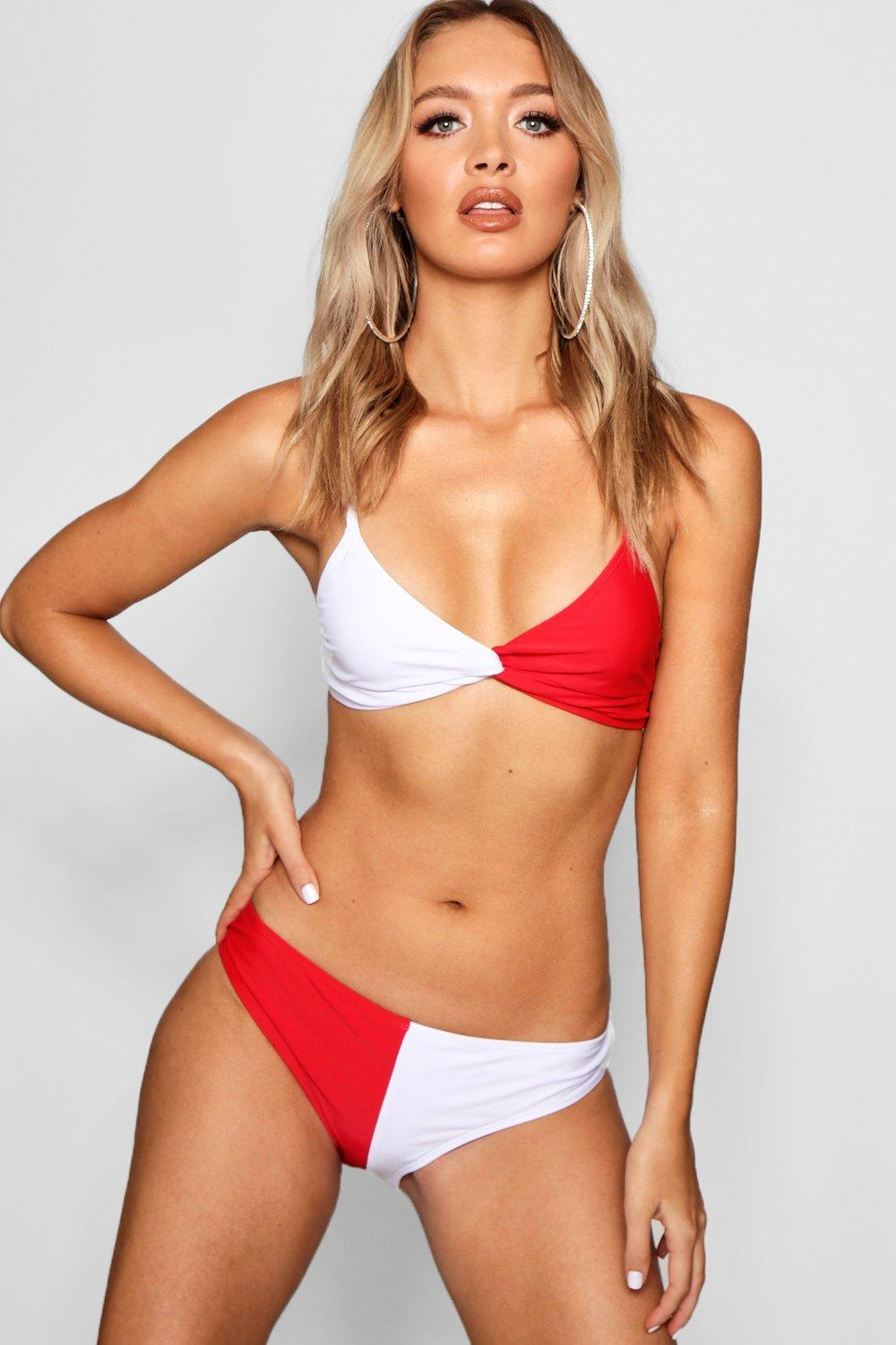 USA Twist Triangle High Leg Bikini