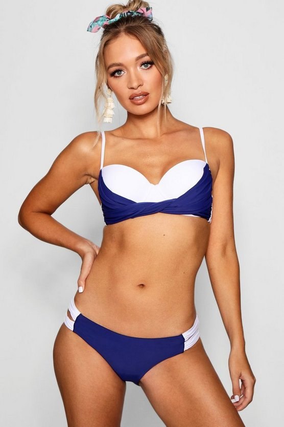 Womens Navy USA Underwired Bikini