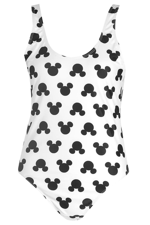 Disney completo Mouse Bañador con de estampado Mickey de blanco 0w40Hx7