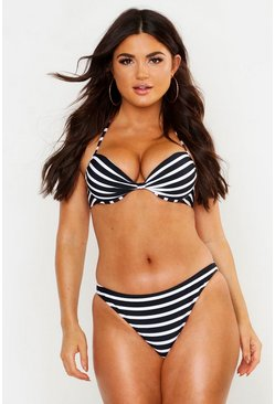 Womens Black Paphos Mix & Match Nautical Bikini Brief