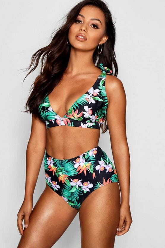 Spain Mix & Match Tropical High Waist Bikini Brief